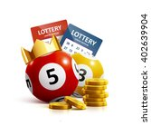 illustration of lottery icon... | Shutterstock .eps vector #402639904