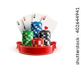 casino realistic icon with... | Shutterstock .eps vector #402644941