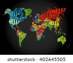 hello word cloud world map in... | Shutterstock .eps vector #402645505
