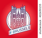 vector line brussels badge | Shutterstock .eps vector #402650155