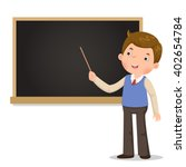 male teacher standing in front... | Shutterstock .eps vector #402654784