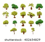 tropical trees video game flat... | Shutterstock .eps vector #402654829