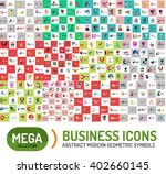 logo mega collection  abstract... | Shutterstock .eps vector #402660145