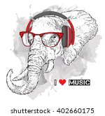 illustration of elephant... | Shutterstock .eps vector #402660175