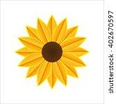 stock vector icon. sunflower... | Shutterstock .eps vector #402670597