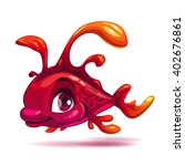 cute fantasy red fish  aquarium ...
