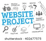 website project. chart with... | Shutterstock .eps vector #402677575