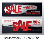 sale banners template design | Shutterstock .eps vector #402686155