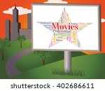 movies star showing motion... | Shutterstock . vector #402686611