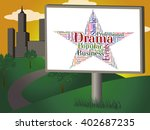 drama star indicating words... | Shutterstock . vector #402687235