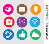 icons social media network ... | Shutterstock .eps vector #402692515