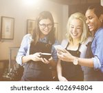 friends talking coffee shop...   Shutterstock . vector #402694804