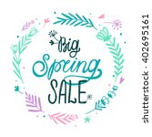 spring sale design with... | Shutterstock .eps vector #402695161