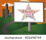 theater star indicating... | Shutterstock . vector #402698749