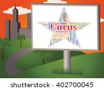 circus star indicating three... | Shutterstock . vector #402700045