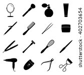 set of black beauty icons ... | Shutterstock .eps vector #402703654