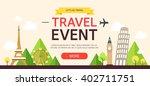 travel event event design | Shutterstock .eps vector #402711751