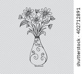 flowers and vase  | Shutterstock .eps vector #402712891