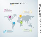 business infographic world... | Shutterstock .eps vector #402717544