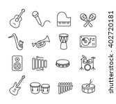 collection of musical... | Shutterstock .eps vector #402720181