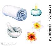 watercolor spa clipart  ... | Shutterstock . vector #402721615