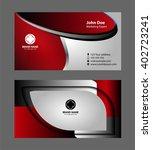 business card template  | Shutterstock .eps vector #402723241