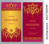 wedding invitation or card with ... | Shutterstock .eps vector #402730549