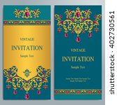 wedding invitation or card with ... | Shutterstock .eps vector #402730561