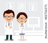 young professional doctors.... | Shutterstock .eps vector #402732271