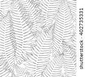 Seamless Pattern Of Fern. Blac...