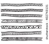 hand drawn vector line border... | Shutterstock .eps vector #402743131