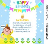 happy birthday card design... | Shutterstock .eps vector #402743509