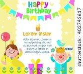 happy birthday card design...   Shutterstock .eps vector #402743617