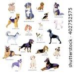 vector illustration of dogs... | Shutterstock .eps vector #402752575