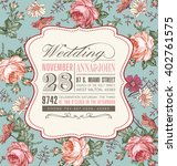 wedding invitation. beautiful... | Shutterstock .eps vector #402761575