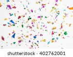 Colourful sparlking confetti on ...