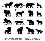 set of vectors predators. lion  ... | Shutterstock .eps vector #402769039