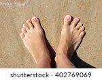 leg sand | Shutterstock . vector #402769069