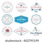 valentines alchymia badges... | Shutterstock .eps vector #402795199
