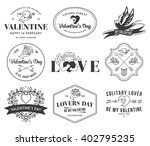 valentines love black on white | Shutterstock .eps vector #402795235