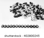 Heap Of Round Letters Black An...