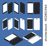cell phone. flat isometric. big ... | Shutterstock .eps vector #402801964