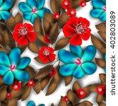 tropical flower  blossom... | Shutterstock .eps vector #402803089