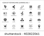 smart machine learning vector... | Shutterstock .eps vector #402822061