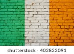 Flag Of Ireland Painted On...