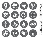 set of eco icons in flat style  ... | Shutterstock . vector #402828964