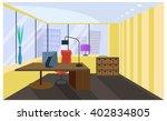 office room interior in flat... | Shutterstock .eps vector #402834805