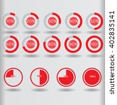 icons pie graph circle... | Shutterstock .eps vector #402835141