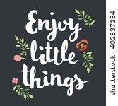hand lettering calligraphic... | Shutterstock .eps vector #402837184