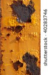 Rusty Metal Surface Painted In...